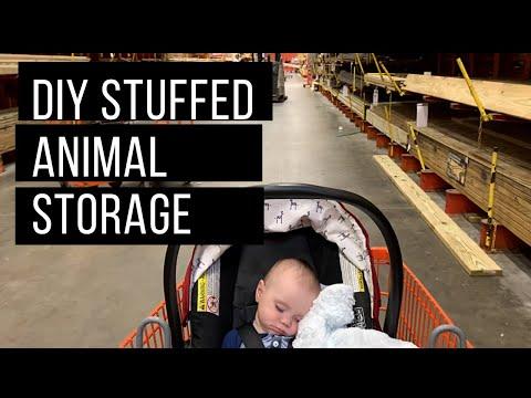 DIY STUFFED ANIMAL ZOO CAGE STORAGE