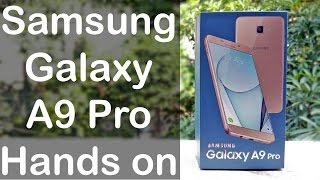 samsung galaxy a9 pro review unboxing first look   nothing wired