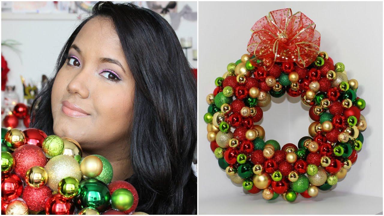 Especial de navidad como hacer una corona navide a diferente diy kathy gamez youtube - Como hacer coronas navidenas ...