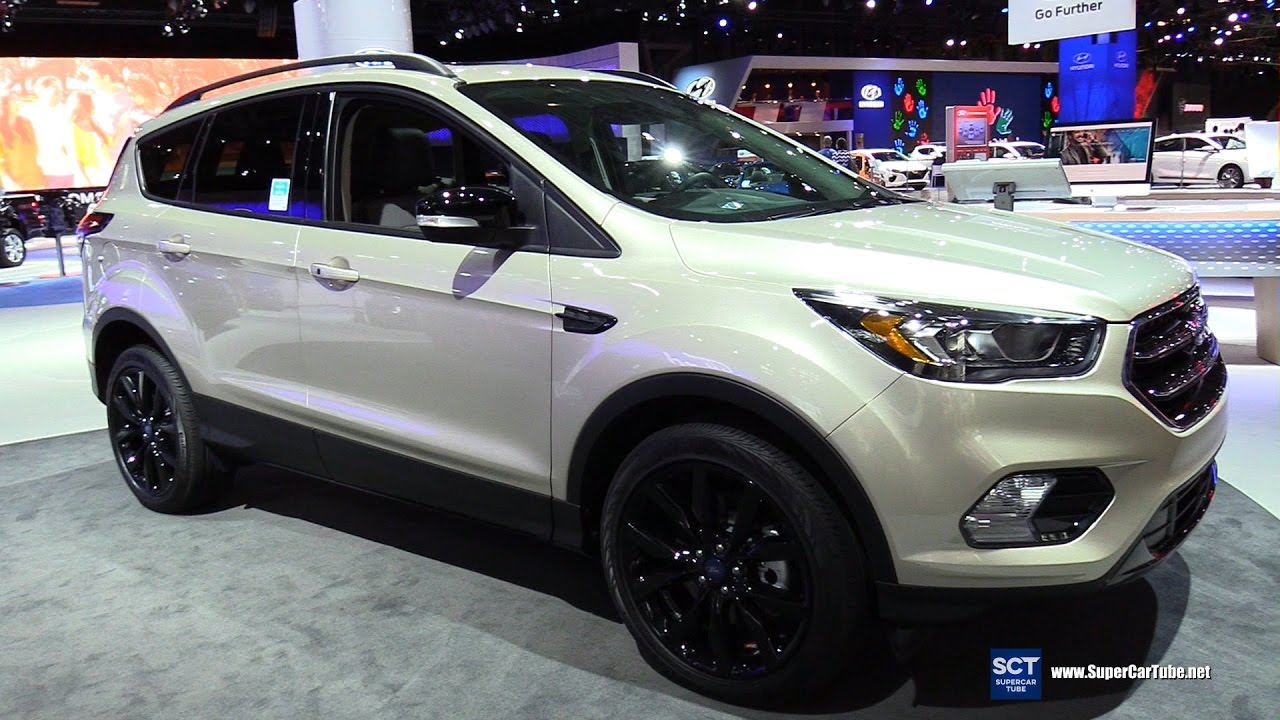 2018 ford escape titanium exterior and interior walkaround 2017 new york auto show
