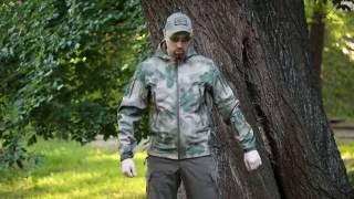 """Видео обзор куртки тактической Soft-shell c капюшоном, цвет a-tacs fg от """"Chameleon""""."""