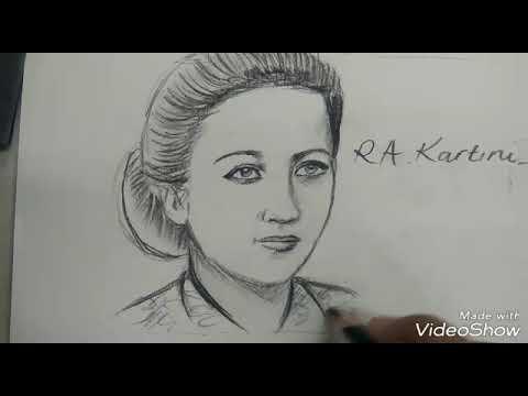 Cara menggambar wajah IBU RA KARTINI versi lambat GAMPANG - YouTube