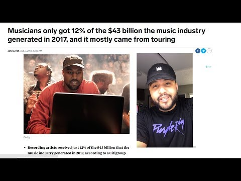 Musicians only got 12% of the $43 billion Music Industry in 2017?