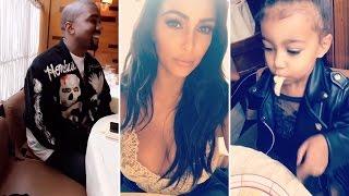 Kim Kardashian Having Dinner With Kanye West & North West | FULL VIDEO