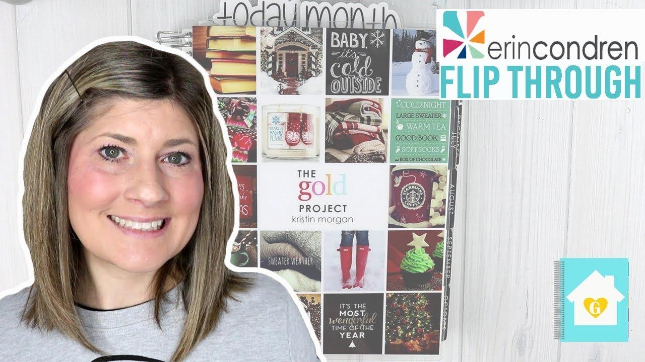 6 Month Erin Condren Planner Flip Through 2018 Youtube