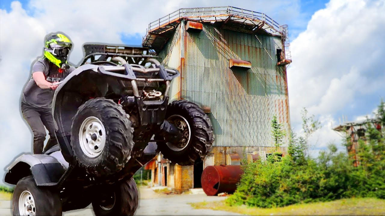 Exploring ABANDONED MILITARY BASE on FOUR WHEELERS !!! (AND CAMPING THERE)