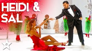 Heidi Klum Performs Santa Baby Duet with Sal Valentinetti | Holiday Spectacular!
