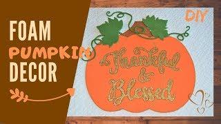 Fall decoration DIY   Dollar Tree style Autumn decor   Step by step tutorial