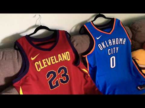 Nike X NBA Swingman Lebron James and Russell Westbrook Jersey with Nike Connect