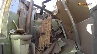 Обстрел поселка шахты Абакумова в Донецке.