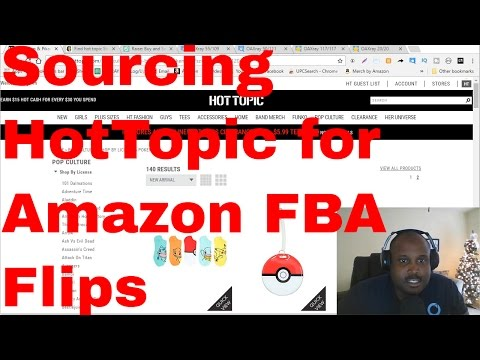 Hot Topic Sourcing for amazon fba sellers using oaxray for online arbitrage