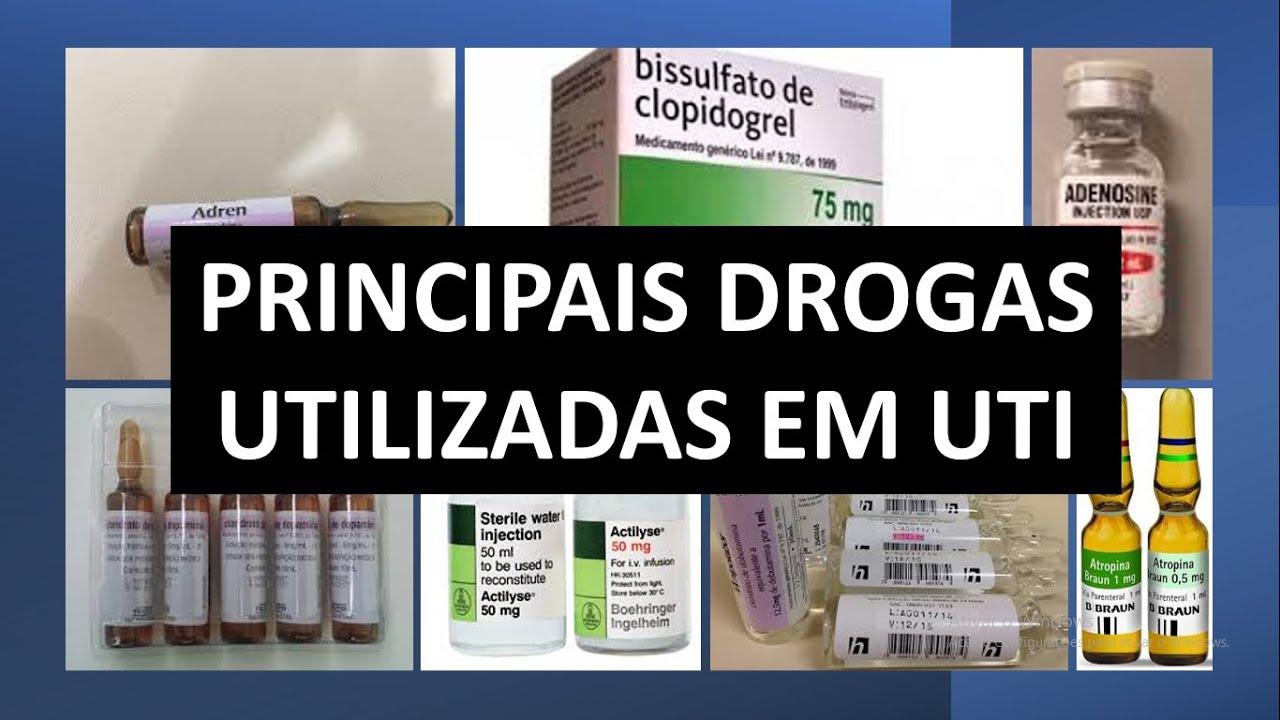 Drogas Mais Utilizadas em UTI - farmacologia aplicada a enfermagem