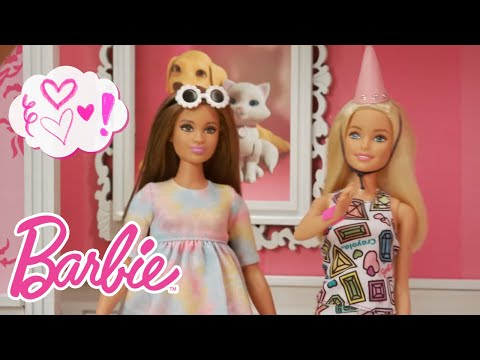 Birthday Party Surprise with the Barbie® Crayola® Color-In Fashion Dolls   Barbie