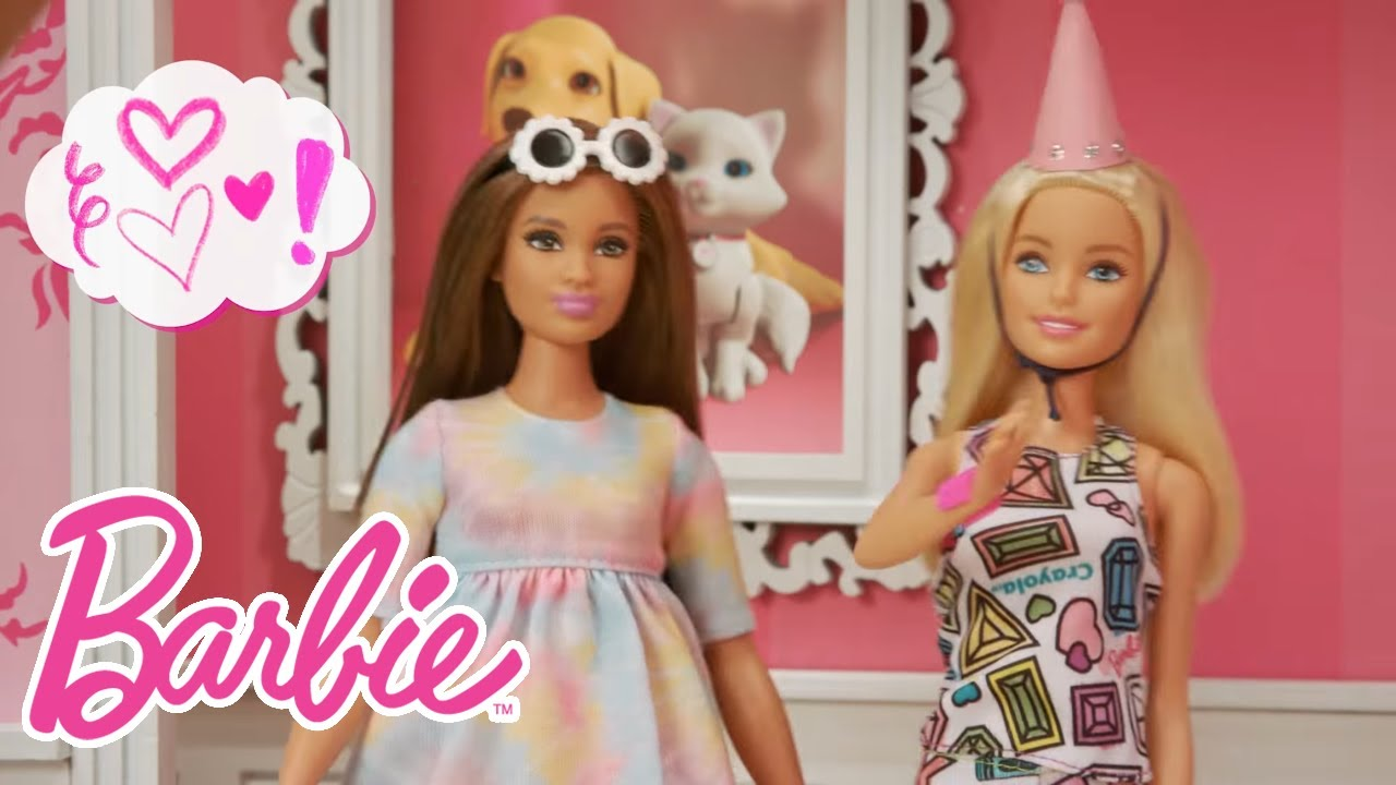 Birthday Party Surprise With The BarbieR CrayolaR Color In Fashion Dolls