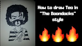 """vuclip How to Draw Teo in """"The Boondocks"""" style"""