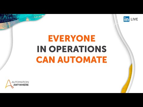 Everyone Can Automate - Operations