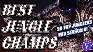 Top Junglers For Mid Season 8! (Patch 8.13 onward)