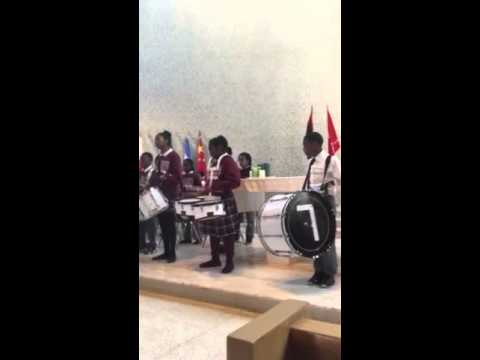 St. Malachy Band and Praise Dancers at Woodlands Academy