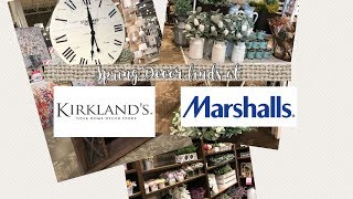 Spring Decor Finds at Kirklands and Marshalls // Shop With Me
