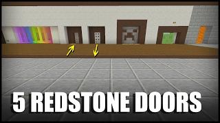 5 Redstone Doors to Build in Minecraft!