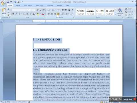 Preparing Document for Project Report in MS word thumbnail