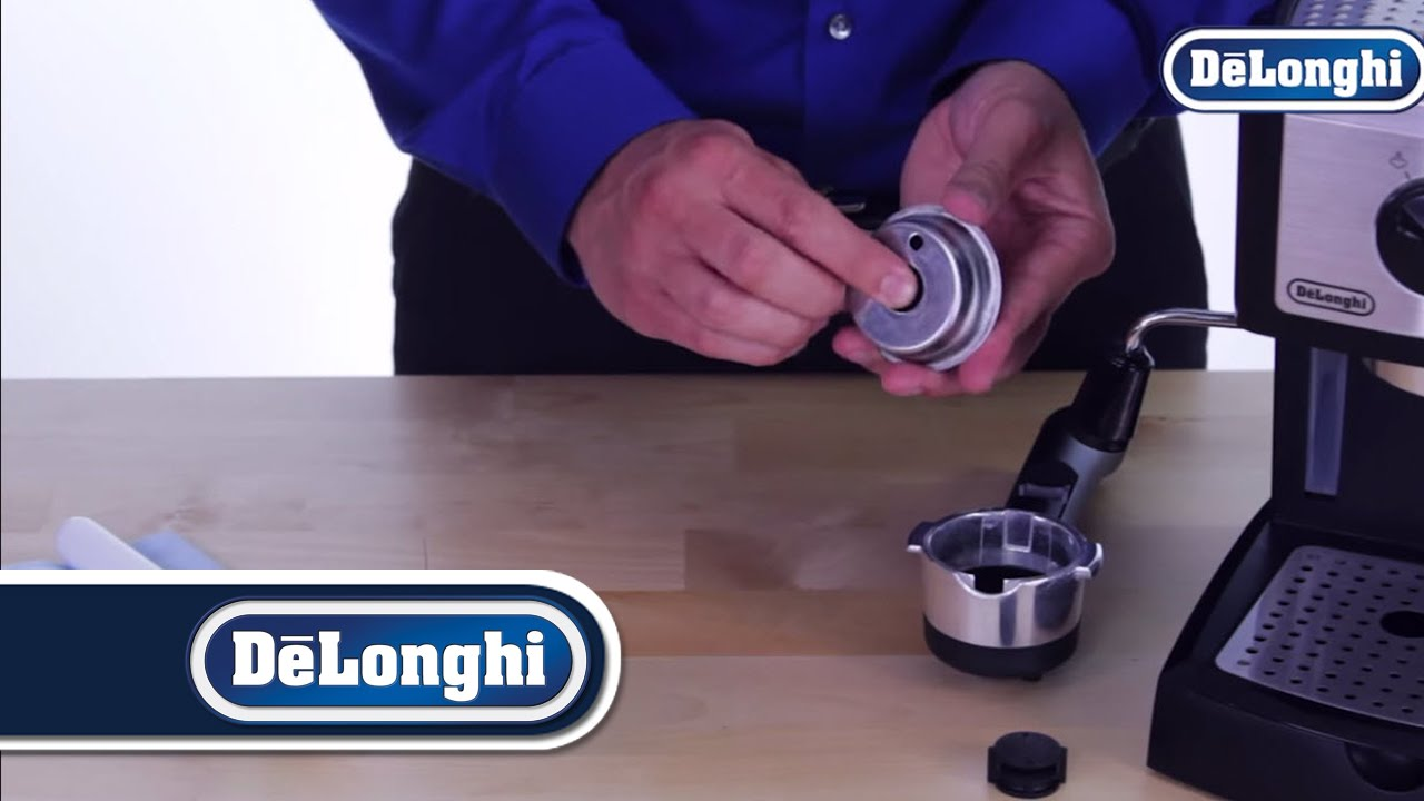 Delonghi Coffee Maker Filter Basket : De Longhi Pump Espresso Machines: Cleaning the Filter Baskets - YouTube