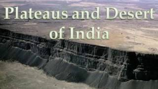 Indian Map Pointing  Plateaus and Desert of India
