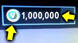 PRIMO AL MONDO AD AVERE 1.000.000 DI V-BUCK su Fortnite Battle Royale