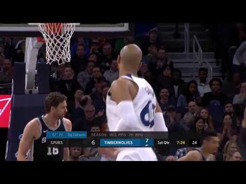 San Antonio Spurs vs. Minnesota Timberwolves - November 15, 2017