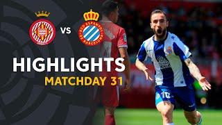 Highlights Girona FC vs RCD Espanyol (1-2)