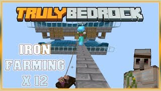 Truly Bedrock S0 EP13 : Iron Farm ... Yes Please x12 [ Minecraft, MCPE, Bedrock Edition,Windows 10 ]