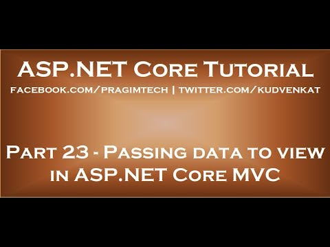 Passing Data To View In ASP NET Core MVC