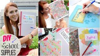 DIY SCHOOL SUPPLIES: BACK TO SCHOOL #1 | LaurenCocoXO Thumbnail