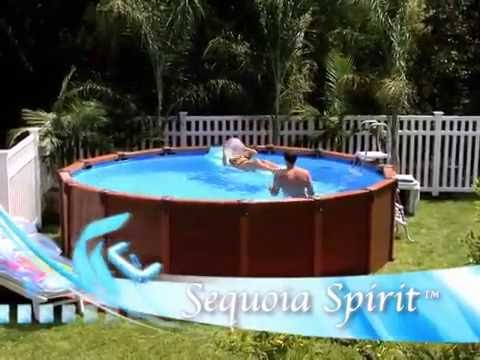 Piscina sequoia spirit intex iberia youtube for Interrare piscina intex