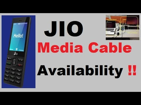 Jio media cable | Availability