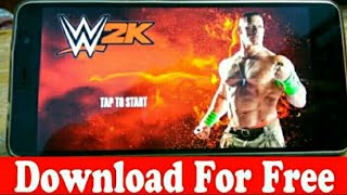 wwe 2k apk and data