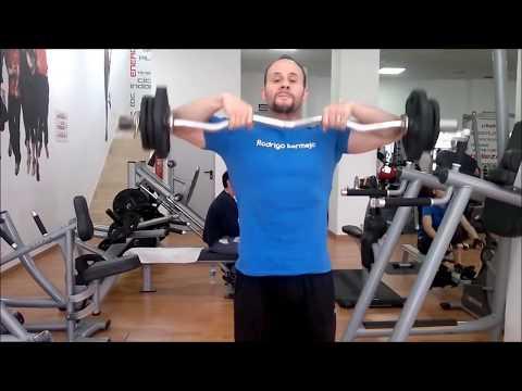 ejercicios para hombros con barra z