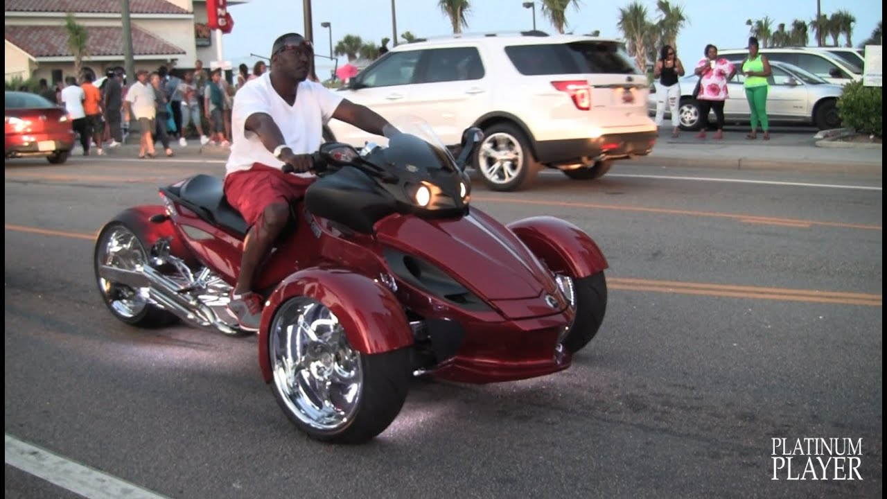 Can Am Spyder Roadster >> Can Am Spyder Roadster Custom Myrtle Beach Youtube
