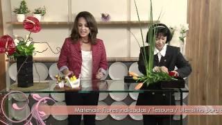 Aprenda a técnica milenar japonesa de arranjo de flores: IKEBANA