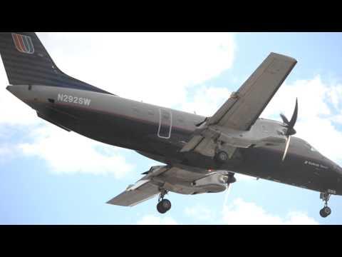 United Airlines Express EMB-120ER Brasilia [N292SW] (Gray Scheme) Landing At LAX