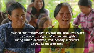 Grantees working together for women survivors of violence living with disabilities