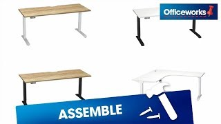 Stilford Desk And Workstation Assembly Instructions Youtube