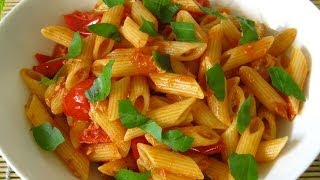 Pasta Al Tonno (versione Rossa) - Pasta With Tuna And Tomato Sauce