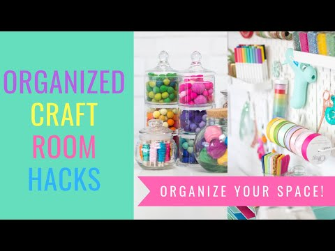 Craft and Sewing Room Organization Hacks That Actually Work!!!