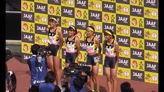 桐蔭(和歌山)が日本中学記録! 全中陸上 女子4×100mリレー決勝 2019.8 大阪