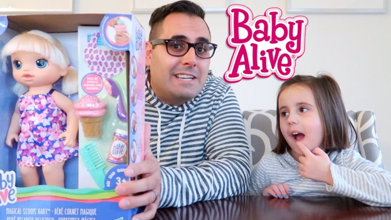 New Baby Alive Magical Scoops Baby