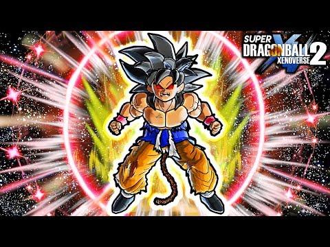 NEW GT ANIMATED KID GOKU SSJ4 SKILL! Dragon Ball Xenoverse 2 SSJ4 Goku Transformation Awoken Skill