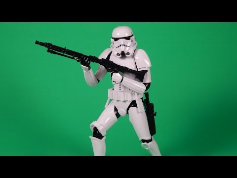 Bandai Star Wars Stormtrooper 6 Inch Action Figure Model Build and Review