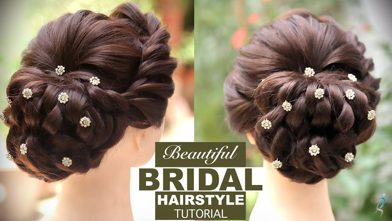 bridal hairstyle tutorial | easy step by step bridal hairstyles | bridal hair bun | khoobsurat