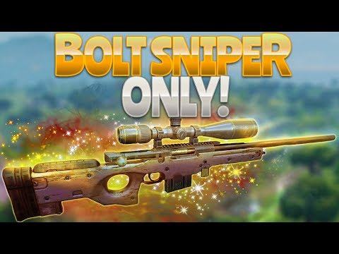 BOLT SNIPER ONLY (Fortnite Battle Royale)